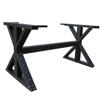 B09 X Legs Industrial Table Base
