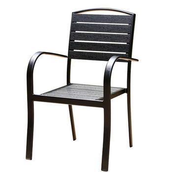 N-PP11 Outdoor Aluminum Polywood Cafe Chairs